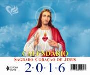 Calendário de mesa do Sagrado Coração de Jesus - 2016