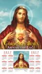Folhinha do Sagrado Coração de Jesus 2017