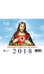 Calendário de mesa do Sagrado Coração de Jesus 2018